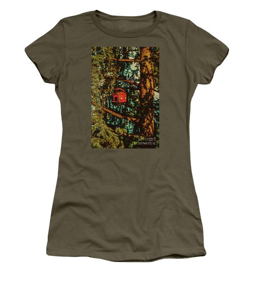 Train Bird House Women's T-Shirt (Athletic Fit)
