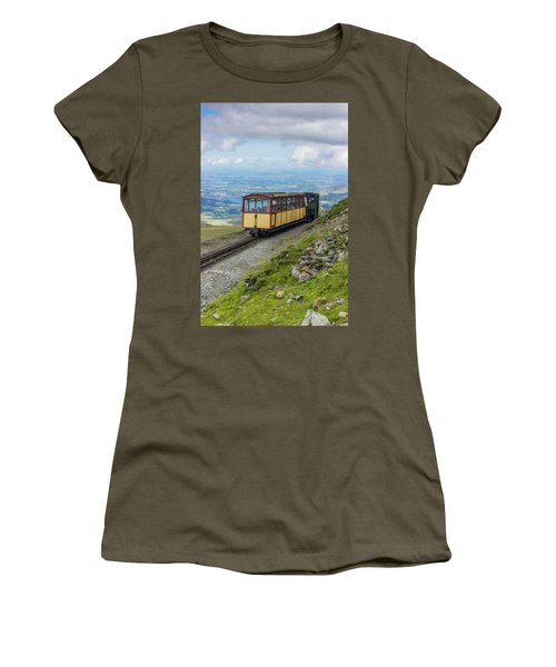 Women's T-Shirt (Junior Cut) featuring the photograph Train To Snowdon by Ian Mitchell