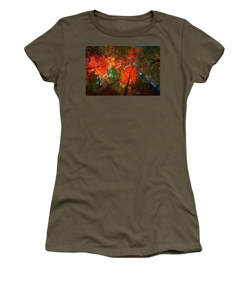 Tree Tops Women's T-Shirt (Junior Cut) by David Stasiak