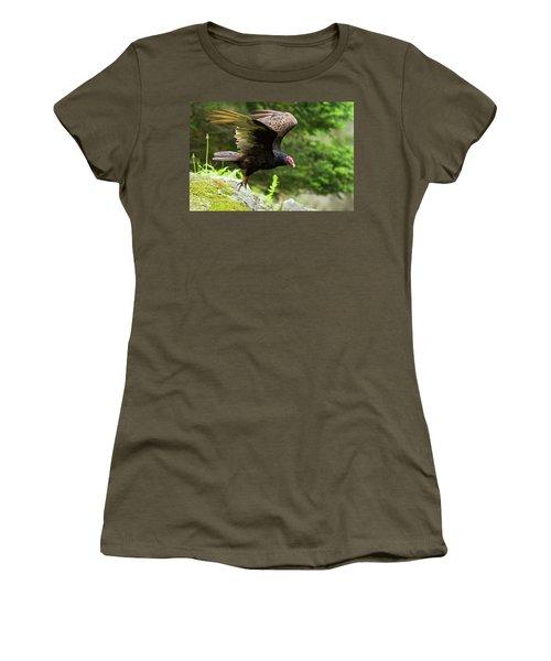 Women's T-Shirt (Junior Cut) featuring the photograph Turkey Vulture by Mircea Costina Photography
