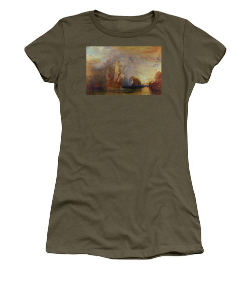Ulysses Deriding Polyphemus - Homer's Odyssey Women's T-Shirt (Athletic Fit)