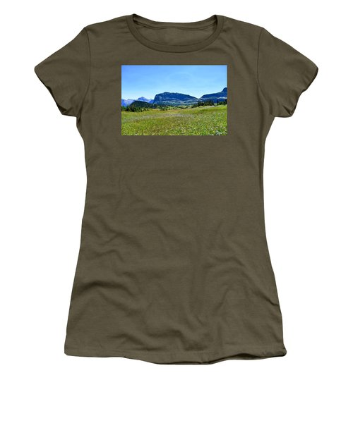 Women's T-Shirt (Junior Cut) featuring the photograph View From Logans Pass by Dacia Doroff