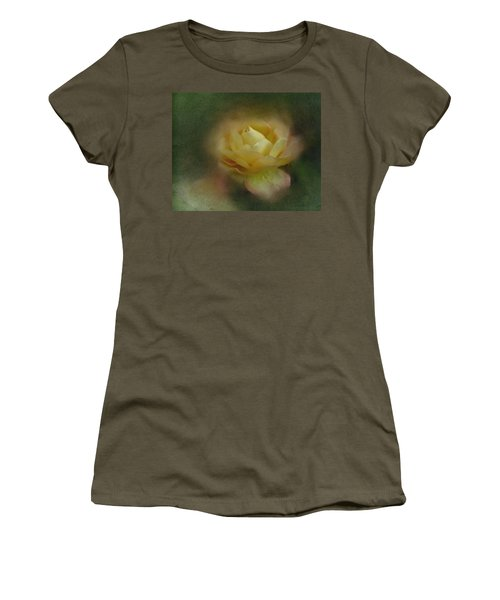 Women's T-Shirt (Junior Cut) featuring the photograph Vintage October Rose  by Richard Cummings
