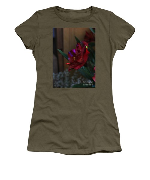 Women's T-Shirt (Athletic Fit) featuring the photograph Waiting For You by Marie Neder