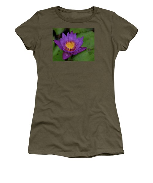 Water Lily Women's T-Shirt (Junior Cut) by Ronda Ryan