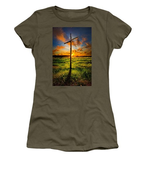 What Will Be Will Be Women's T-Shirt (Junior Cut) by Phil Koch