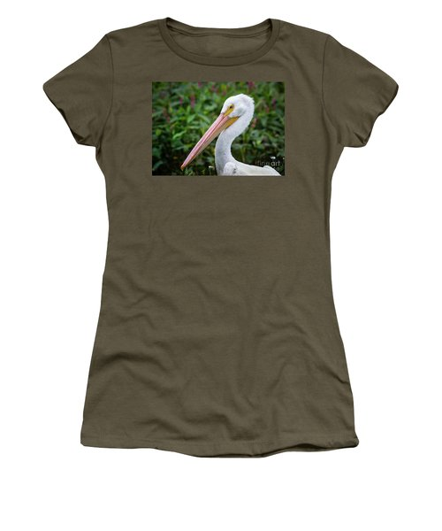 Women's T-Shirt (Junior Cut) featuring the photograph White Pelican by Robert Frederick
