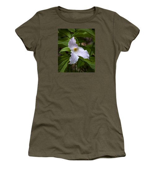 White Trillium Women's T-Shirt (Athletic Fit)