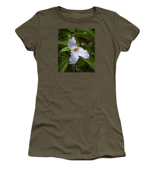 White Trillium Women's T-Shirt (Athletic Fit)