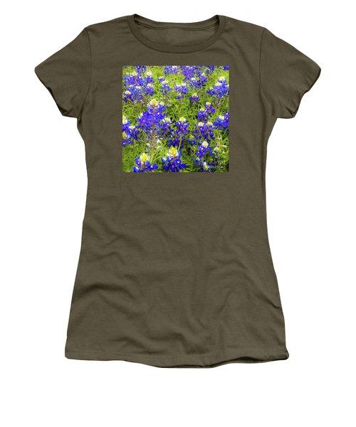 Wild Bluebonnets Blooming Women's T-Shirt