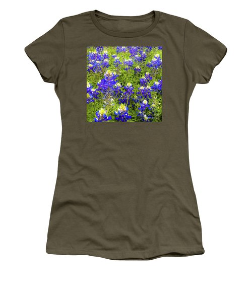 Wild Bluebonnets Blooming Women's T-Shirt