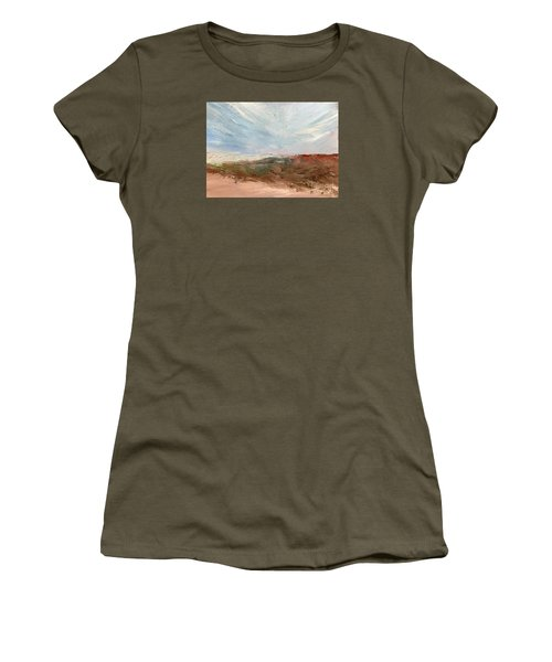 Women's T-Shirt (Junior Cut) featuring the painting Witness by Trilby Cole