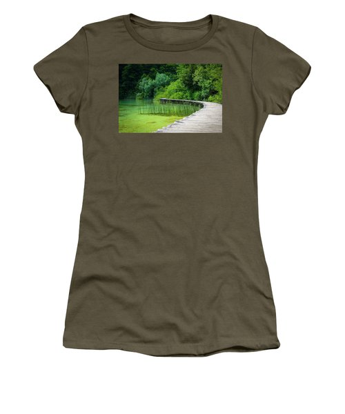 Wooden Path In The Forest Women's T-Shirt