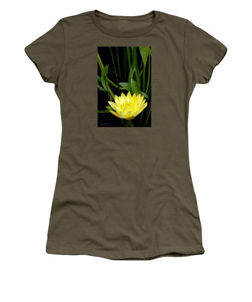 Yellow Lotus Women's T-Shirt (Athletic Fit)