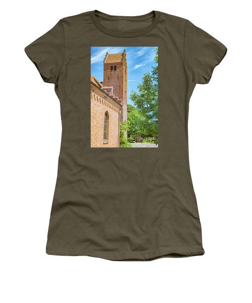 Women's T-Shirt (Junior Cut) featuring the photograph Ystad Monastery In Sweden by Antony McAulay