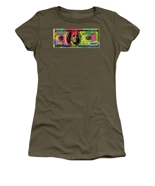 Benjamin Franklin - Full Size $100 Bank Note Women's T-Shirt