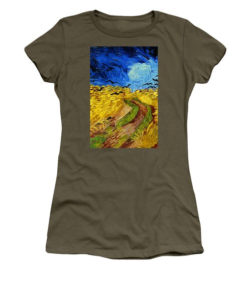 Wheatfield With Crows Women's T-Shirt