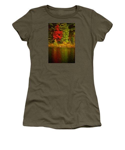 Fall Reflections Women's T-Shirt (Junior Cut) by Andre Faubert