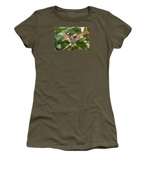 Hummingbird Women's T-Shirt (Junior Cut) by John Freidenberg
