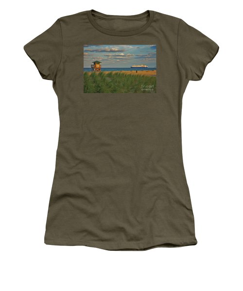 Women's T-Shirt (Junior Cut) featuring the photograph 13- Cruising In Paradise by Joseph Keane