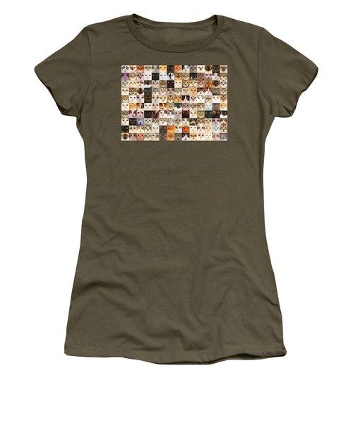 140 Random Cats Women's T-Shirt (Athletic Fit)