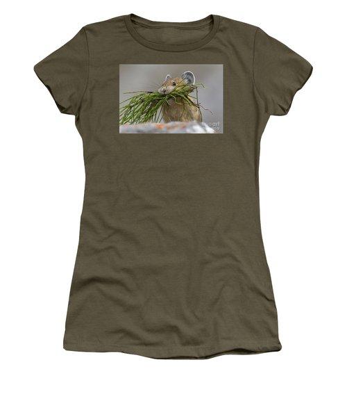 Pika With A Mouthful  Women's T-Shirt