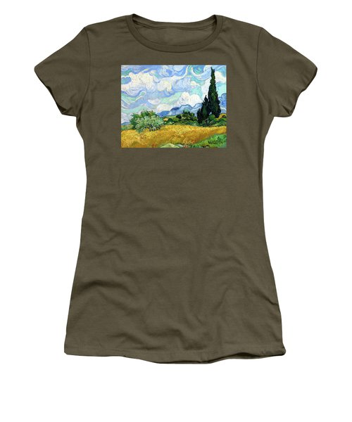 Wheat Field With Cypresses Women's T-Shirt