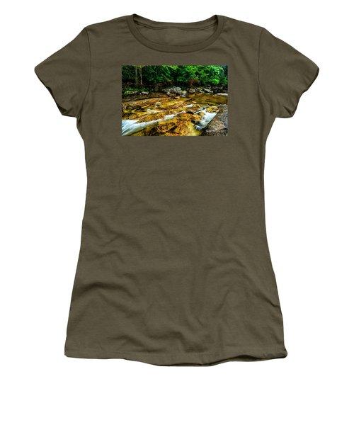 Women's T-Shirt (Junior Cut) featuring the photograph Williams River Summer by Thomas R Fletcher