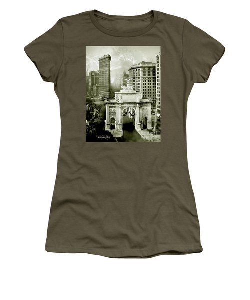 1919 Flatiron Building With The Victory Arch Women's T-Shirt (Athletic Fit)
