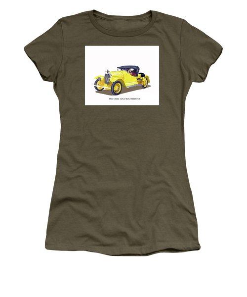 1923 Kissel Kar  Gold Bug Speedster Women's T-Shirt (Junior Cut) by Jack Pumphrey