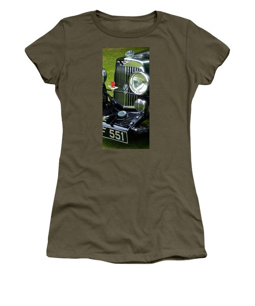 1930s Aston Martin Front Grille Detail Women's T-Shirt (Athletic Fit)