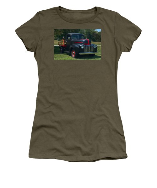 1946 Ford Stake Side Truck Women's T-Shirt (Junior Cut) by Tim McCullough