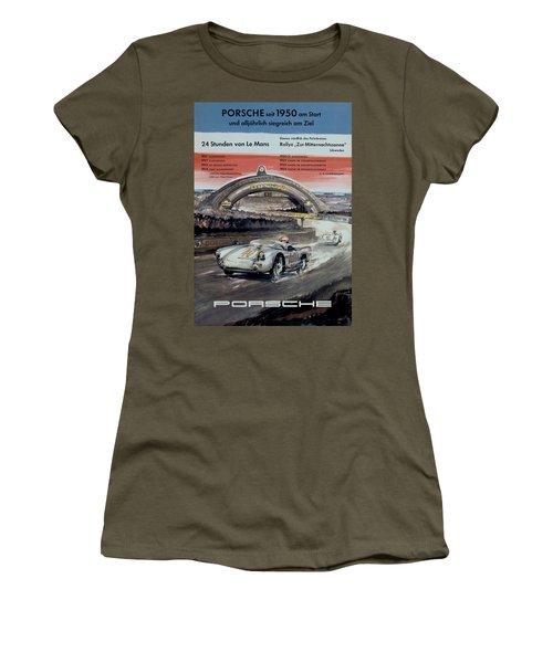 1950 Porsche Le Mans Poster Women's T-Shirt