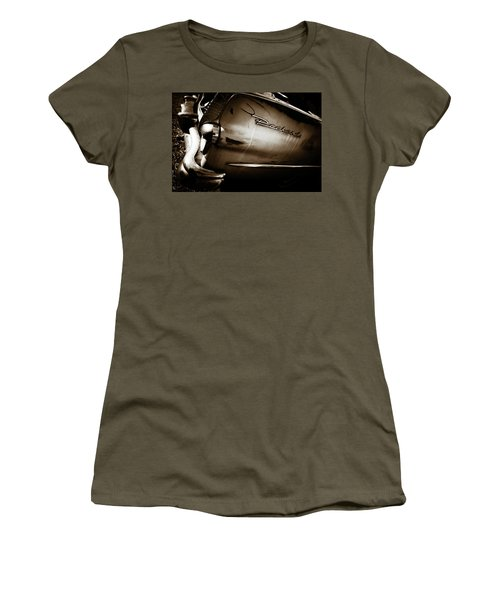 Women's T-Shirt (Junior Cut) featuring the photograph 1950s Packard Tail by Marilyn Hunt