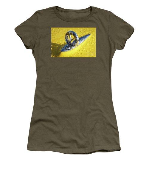 Women's T-Shirt (Junior Cut) featuring the photograph 1955 Buick Hood Ornament by Dennis Hedberg