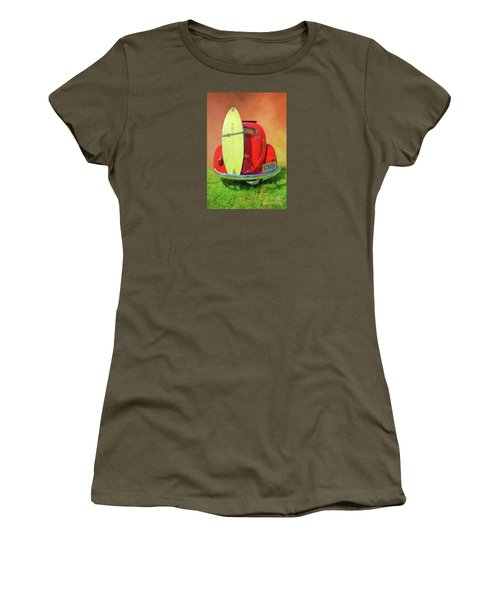 1957 Beetle Oval Women's T-Shirt (Athletic Fit)