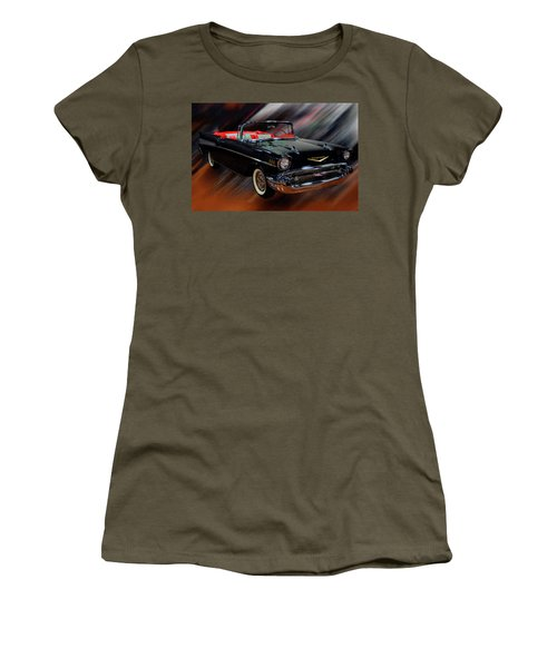 1957 Chevy Bel Air Convertible Digital Oil Women's T-Shirt