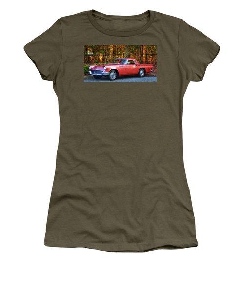 1957 Thunderbird  003 Women's T-Shirt (Junior Cut) by George Bostian