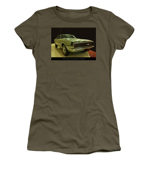 Women's T-Shirt (Athletic Fit) featuring the photograph 1968 Chevy Camaro Rs-ss by Chris Flees