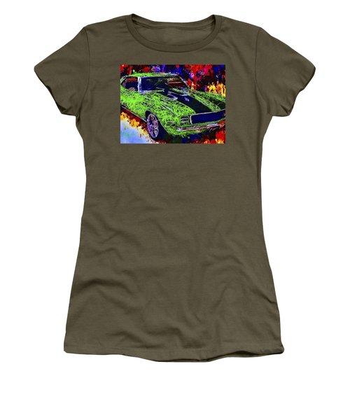 Women's T-Shirt featuring the mixed media 1969 Camaro Z28 by Al Matra