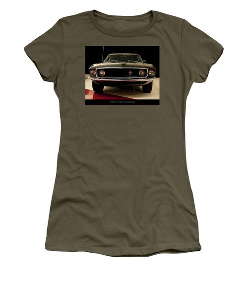 Women's T-Shirt (Junior Cut) featuring the digital art 1969 Ford Mustang by Chris Flees