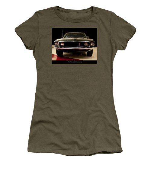 Women's T-Shirt (Junior Cut) featuring the digital art 1969 Ford Mustang by Chris Flees