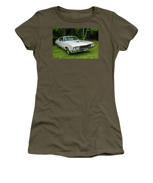 1971 Buick Skylark Gs Women's T-Shirt (Junior Cut) by Ken Morris