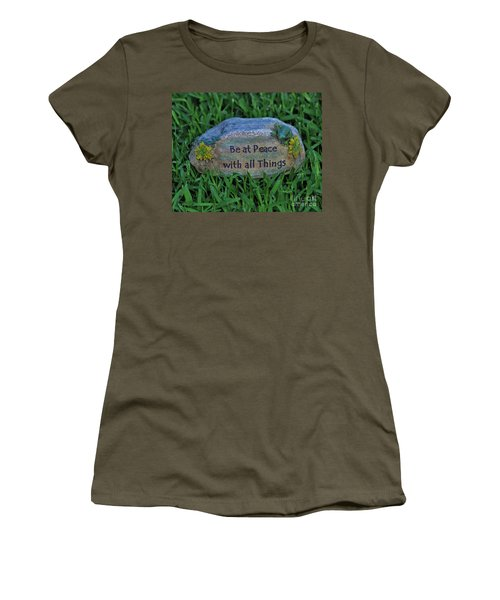 Women's T-Shirt (Junior Cut) featuring the photograph 2- Be At Peace by Joseph Keane