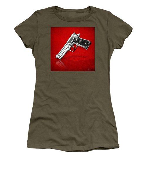 Beretta 92fs Inox Over Red Leather  Women's T-Shirt