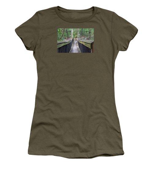 Bridge To Paradise Women's T-Shirt (Junior Cut) by Kenneth Albin