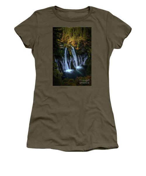 Women's T-Shirt (Junior Cut) featuring the photograph Burney Falls by Kelly Wade