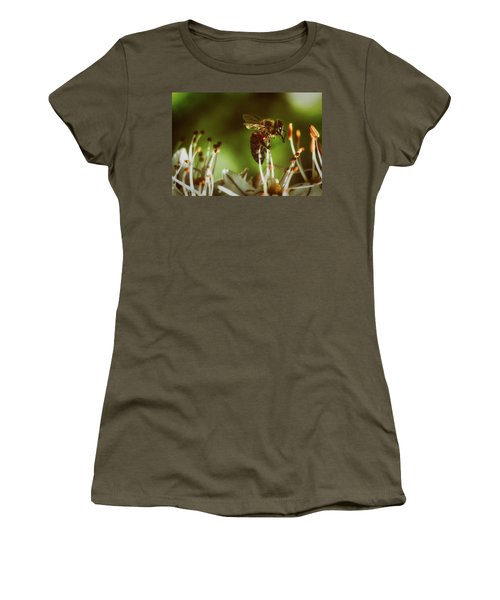 Women's T-Shirt (Junior Cut) featuring the photograph Bzzz by Michael Siebert