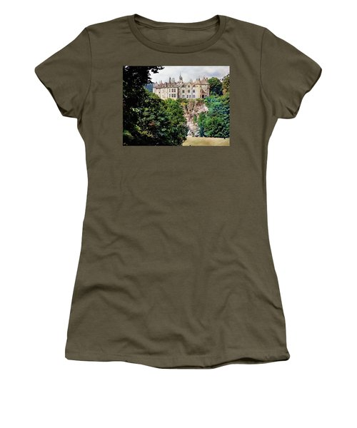 Women's T-Shirt (Athletic Fit) featuring the photograph Chateau De Walzin - Belgium by Joseph Hendrix