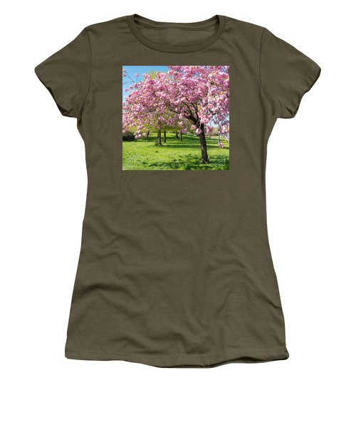 Cherry Blossom Tree Women's T-Shirt (Junior Cut) by Colin Rayner